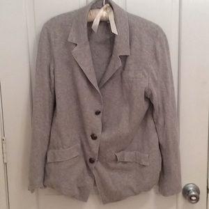 Banana Republic Gray Jersey Knit Blazer CottonSilk